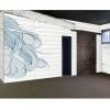 <h3>Vue du mur bloc sanitaires (illustration«cheveux»  Babeth Lafon)</h3>